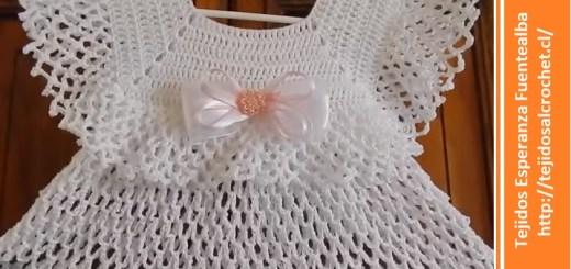 Vestido crochet bebe