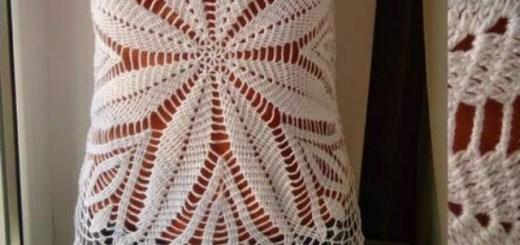 Crochet Blusa sin mangas