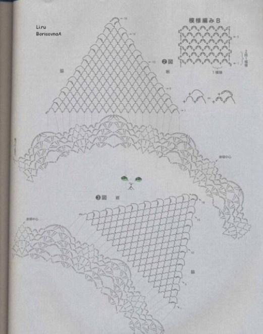 Esquema blusa crochet manga corta2