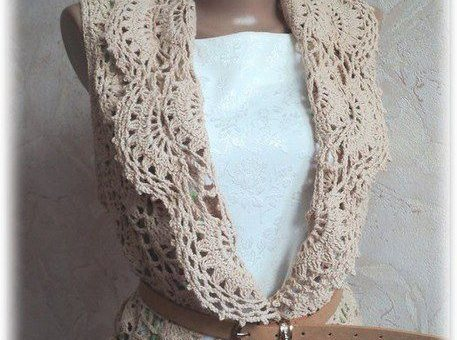 Esquema remera crochet elegante