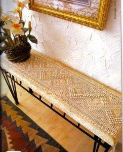 Patrón Camino de mesa en crochet