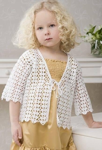 Patrón chaleco de niña crochet