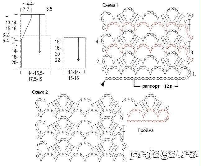 Patrón chaleco de niña crochet1