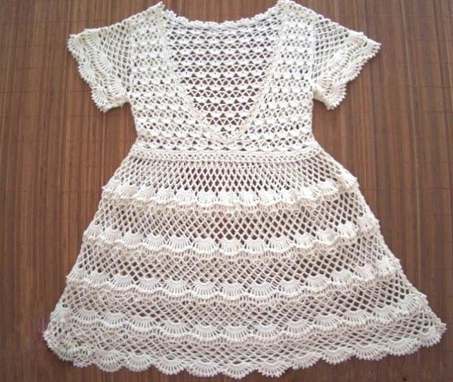 Patrones de Vestido ganchillo niña