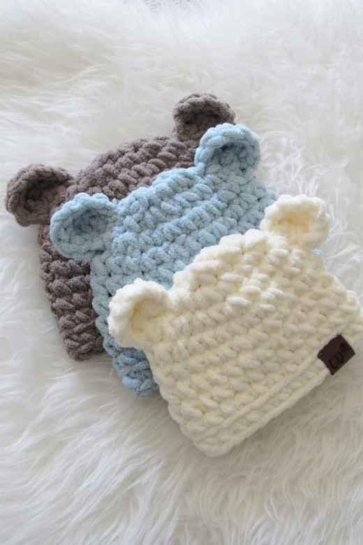 Gorros a crochet para bebes