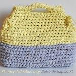 Crochet BOLSO XL DE TEJIDO RECICLADO by Chabepatterns
