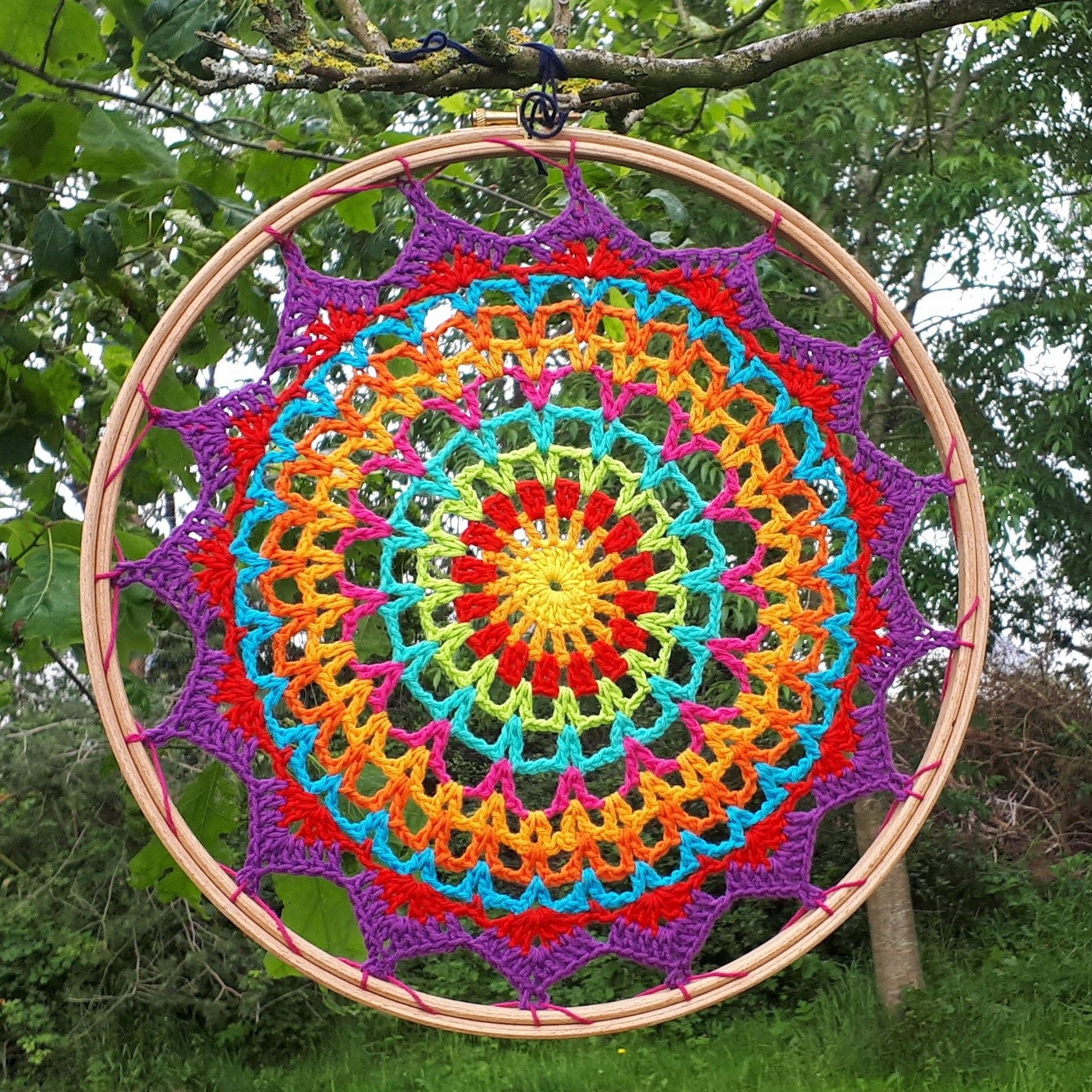 patrones en mandala crochet gratis