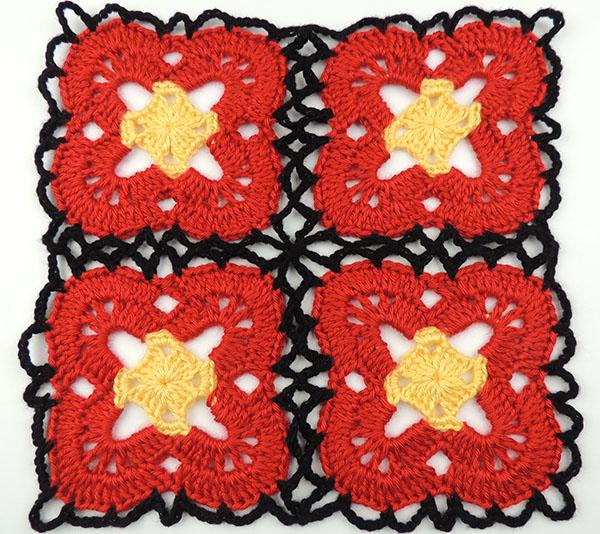 Crochet : Motivos, Flores y Cuadrados - Tejiendo de Corazon