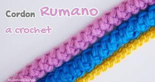 Cordón rumano crochet