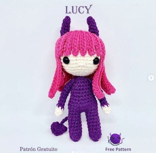 Patrón gratis Lucy Halloween amigurumi crochet
