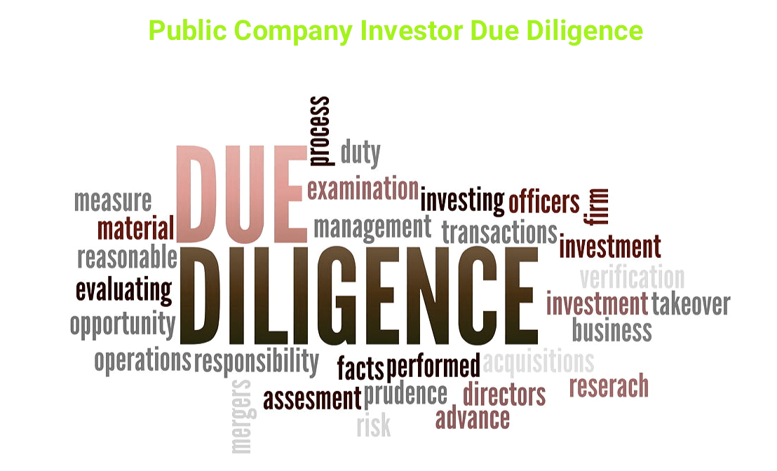 Public Company Investor Due Diligence Cheat Sheet