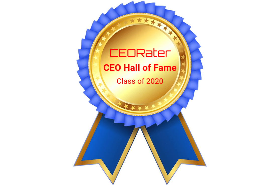 The CEORater CEO Hall of Fame Class of 2020