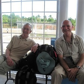 Jack and Dave at the Jeremie airport