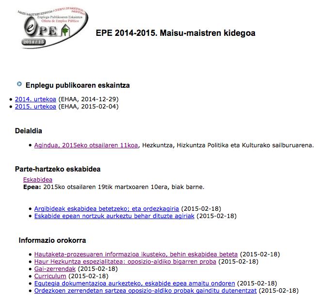 OPE 2015 (1/4)