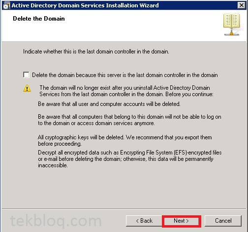 Decommission (Uninstall) a Windows 2008 R2 Domain Controller