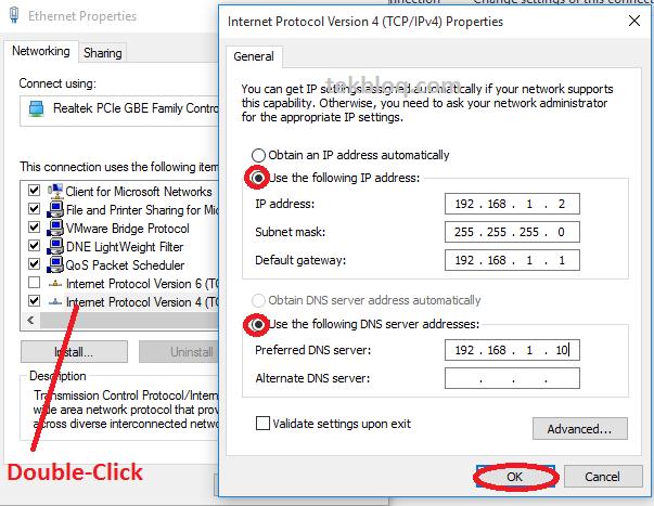 Configure static IP address windows 10 | TekBloq