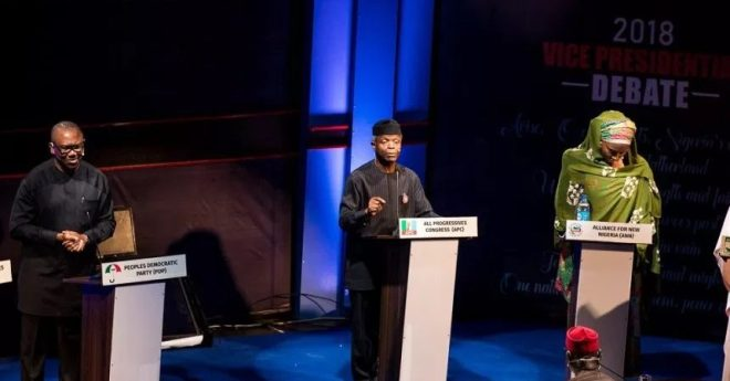 Full Video of Nigeria Vice Presidential Debate of Yesterday for 2019 Elections - Tekedia
