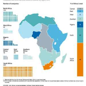 49% of Africa's largest companies are in South Africa, Nigeria only 9%