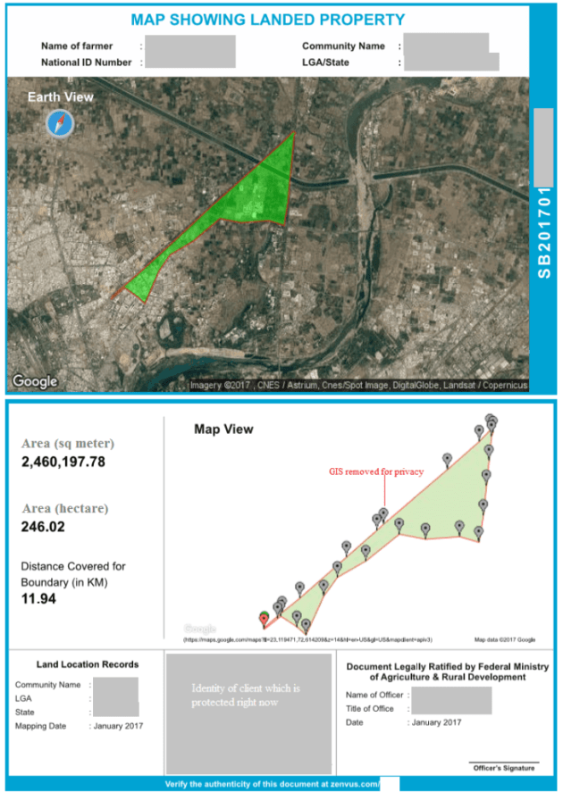 Sample of Zenvus Boundary Report