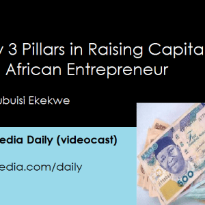 My 3 Pillars In Raising Capital As An African Entrepreneur [Video]