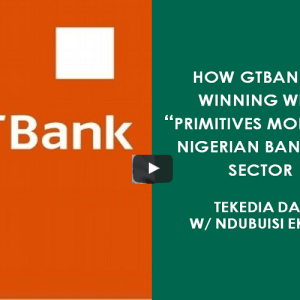 "How GTBank Is Winning With ""Primitives Model"" In Nigerian Banking Sector"