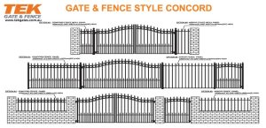 Condord style  Residential gates and fences