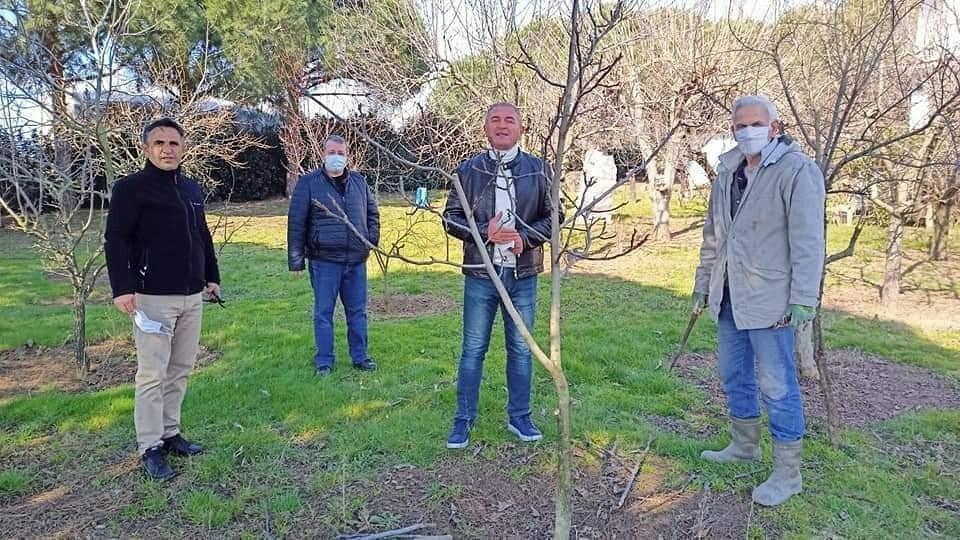 Ekinler ve meyve bahçeleri incelendi