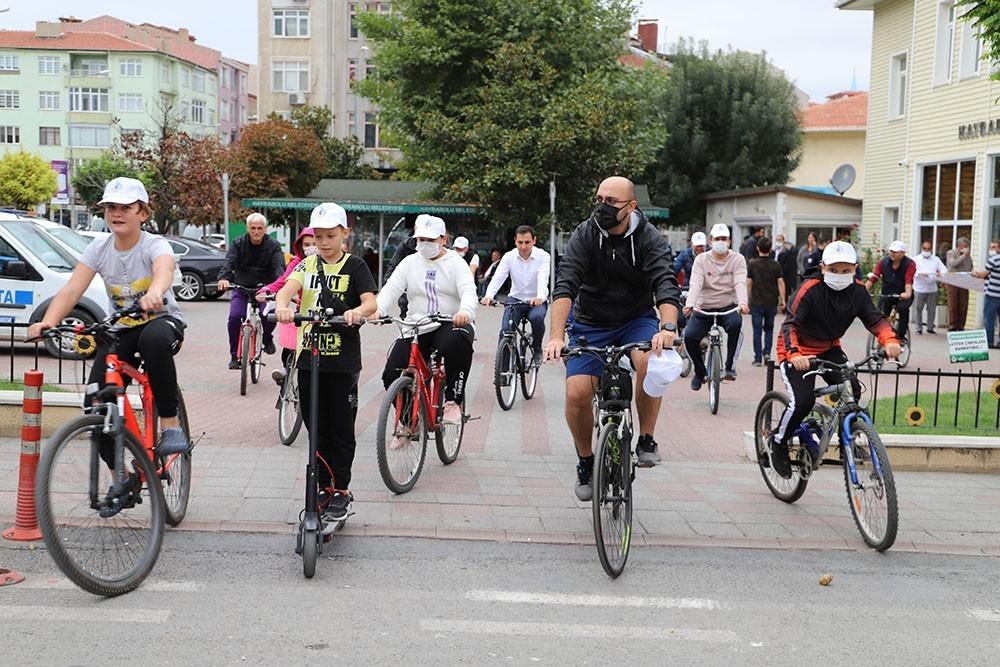 Avrupa Hareketlilik Haftası'nda sağlık yaşam için pedal çevirdiler