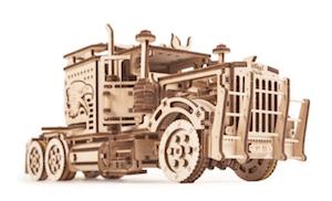 ビッグリグの木製パズル模型