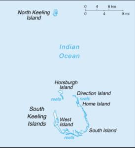 ココス(キーリング)諸島の地図