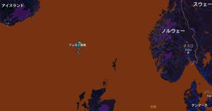 フェロー諸島の場所を示す地図