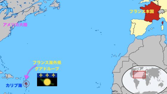 グアドループの地図上の位置