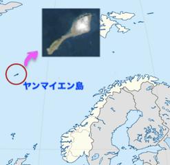 ヤンマイエン島の場所をします地図
