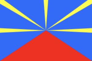 フランス海外県レユニオンの国旗