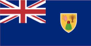 英国海外領土タークスカイコスの国旗