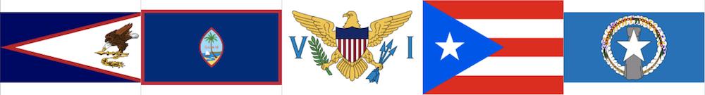 米国領の国連非加盟國地域