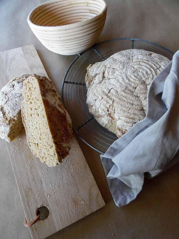 glutenfri bagning i hævekurv