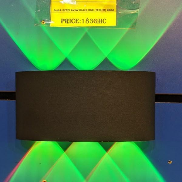 Svet-k B2327 6x3W BLACK RGB (TEKLED) 20sht