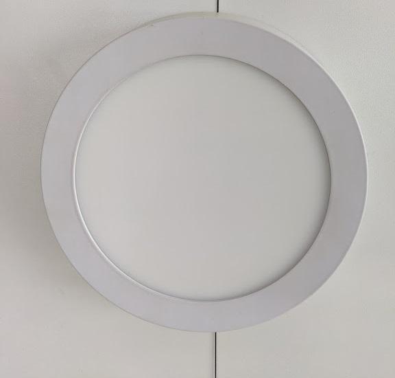 LED Round Panel 12W 6000K Surface /M 30sht