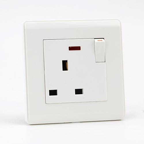 PRIME WH 13A 1GANG BRITISH Socket with neon(TS)100