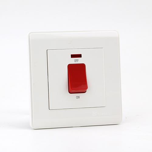 PRIME WHITE 45A DP 1 GANG Switch (TS)100