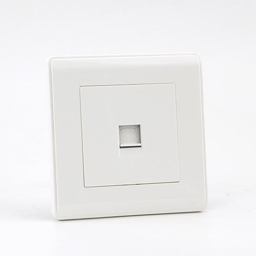 PRIME WHITE 1 GANG TELEPHONE Socket (TS) 100