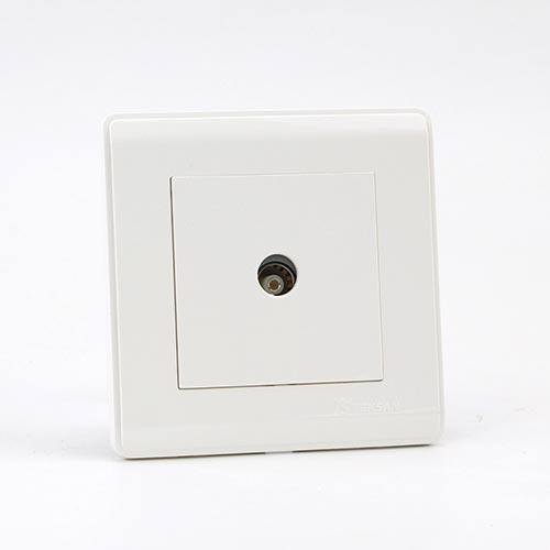 PRIME WHITE 1 GANG TV Socket (TS) 100