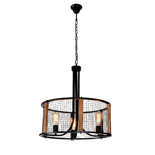 Chandelier 8669-D3 3*E27 BK METAL