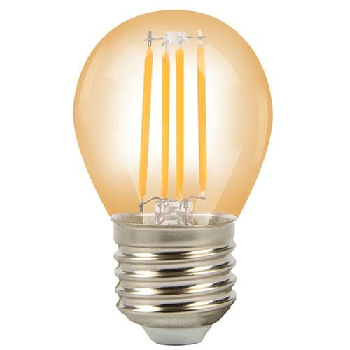 Lampa LED G45 AMBER 3.2W E27 2700K (TL)100sht
