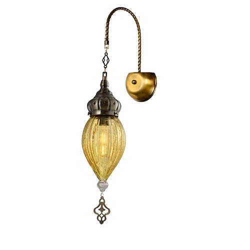 Bra XN09/1W E27 GOLD+YELLOW (TEKAVIZE) 1sht