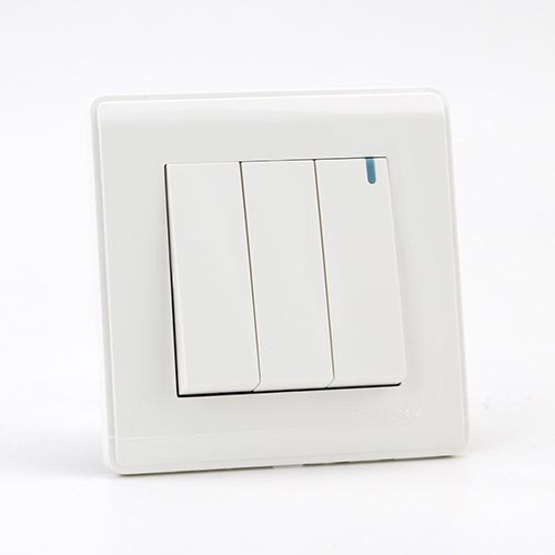 PRIME WHITE 3 GANG Two way switch (TS) 100