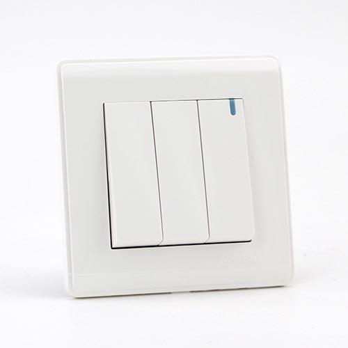 PRIME WHITE 3 GANG Two way switch (TS) 100