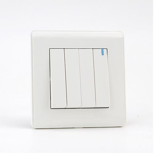 PRIME WHITE 4 GANG One way switch (TS) 100