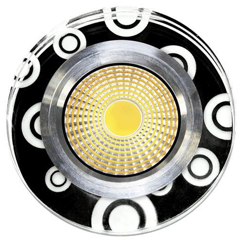 Spot LED HH-ZQQ ROUND BLACK WHITE (TEKL) 100sht